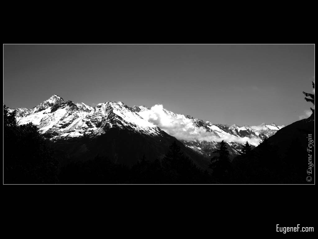 Black and White Alps