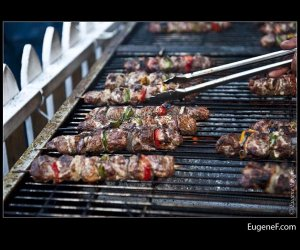 Cooking Shish Kabobs