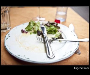 Empty Seafood Plate