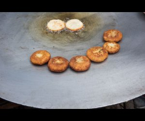 Hot Kachoris Being Made