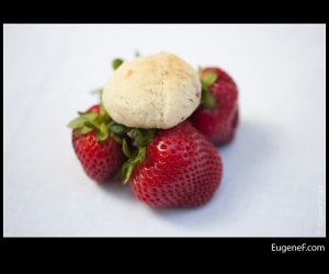 close up fresh strawberries