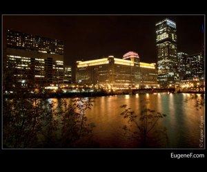 Chicago Night River