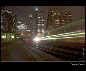 Chicago Speeding Train