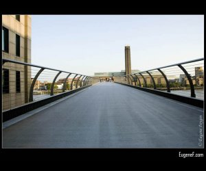 Top of London Millennium Bridge