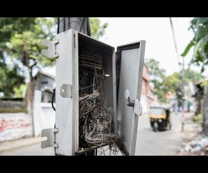 Cable Wires in Electric Box