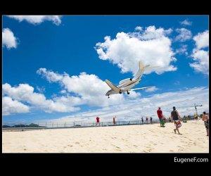 Airplane Sand Beach