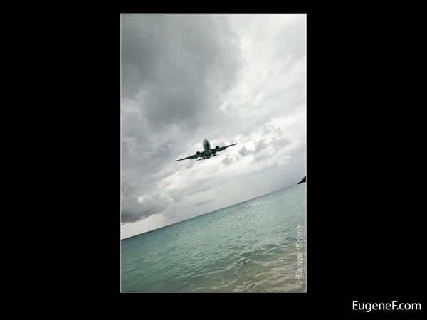 Beach Angular Airplane