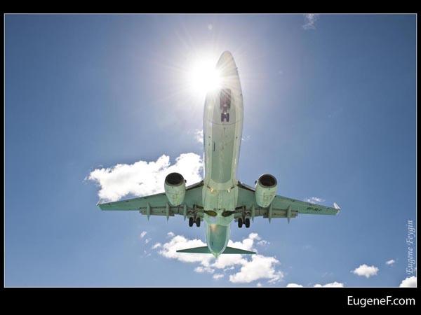 Sunshine Clouds Airplane