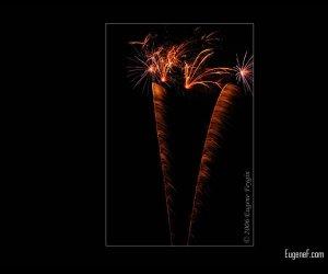 Spiraling Fireworks