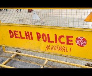 Police Barricade on Road