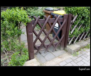 Wooden Fence Door
