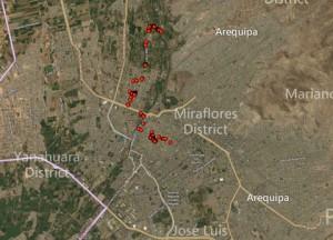 Day 3 Arequipa Peru Map