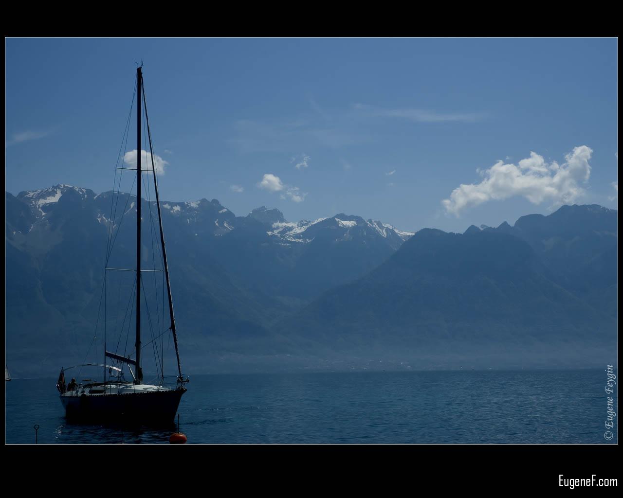 Sailing in Switzerland