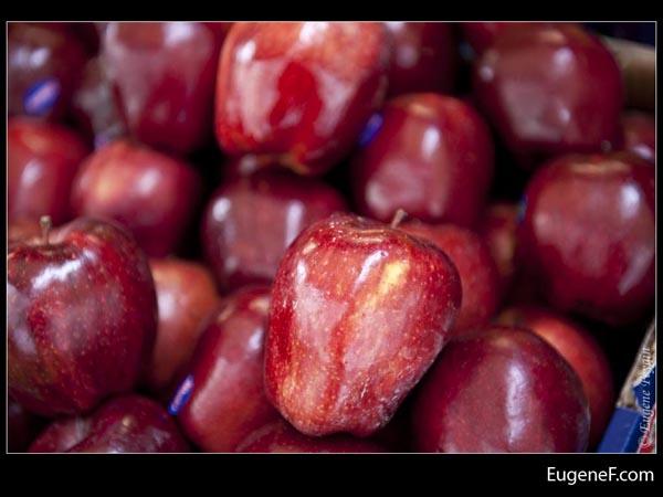 Bright Red Organic Apples