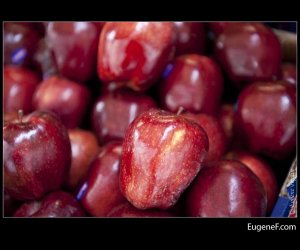 Bright Red Organic Apples