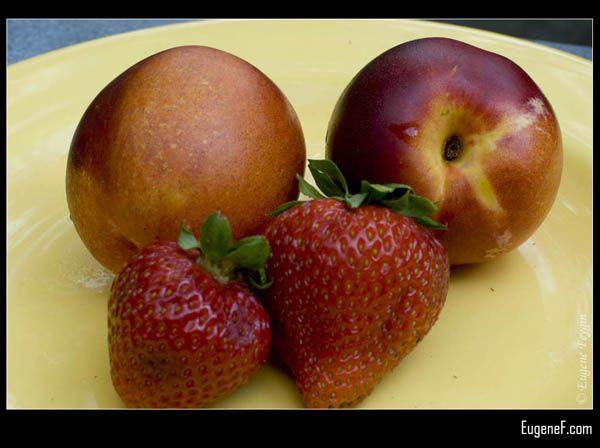 Strawberries Nectarines