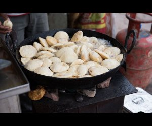Hot Idlis Being Cooked