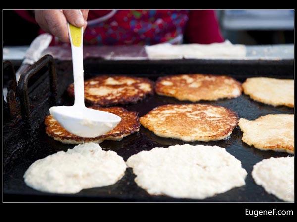 Laying Pancake Batter