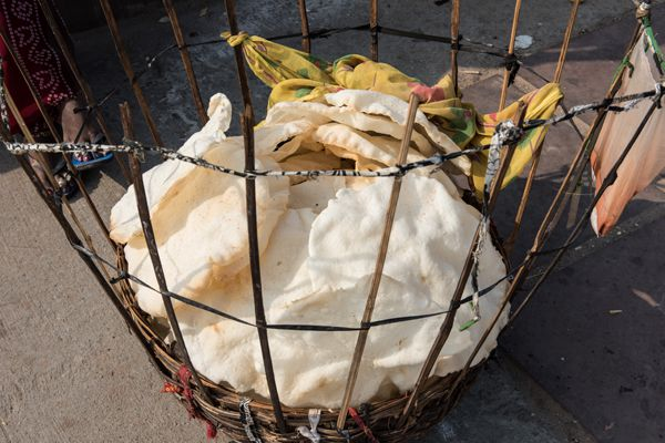 Papadums in Basket