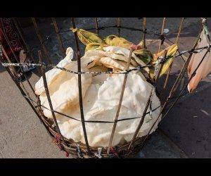 Papadums in Basket
