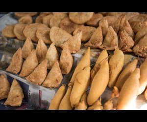 Samosa Being Sold
