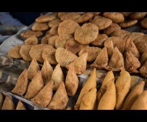 Samosas in Market