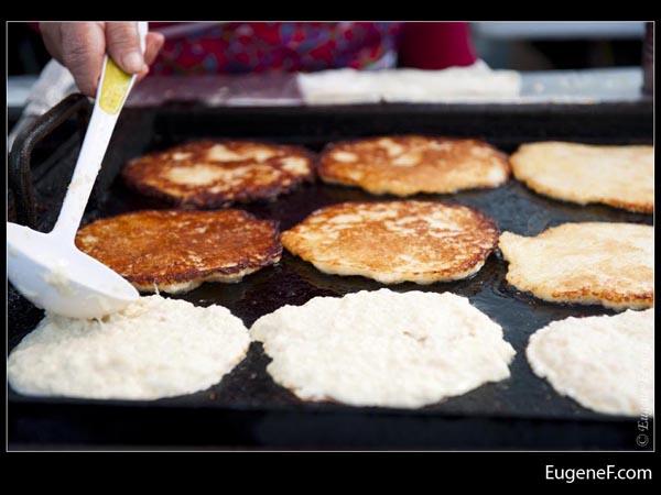 Shaping Pancake Batter