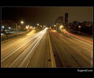 Chicago Lake Shore Drive Night