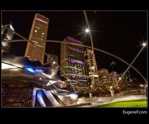 Chicago Pritzker Pavilion night
