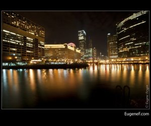 Chicago River North Night