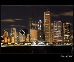 Chicago Skyline night 16