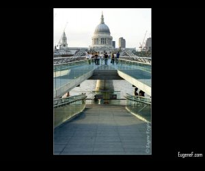 Modern London Millennium Bridge