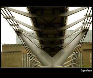 Modern Suspended Steel British Bridge