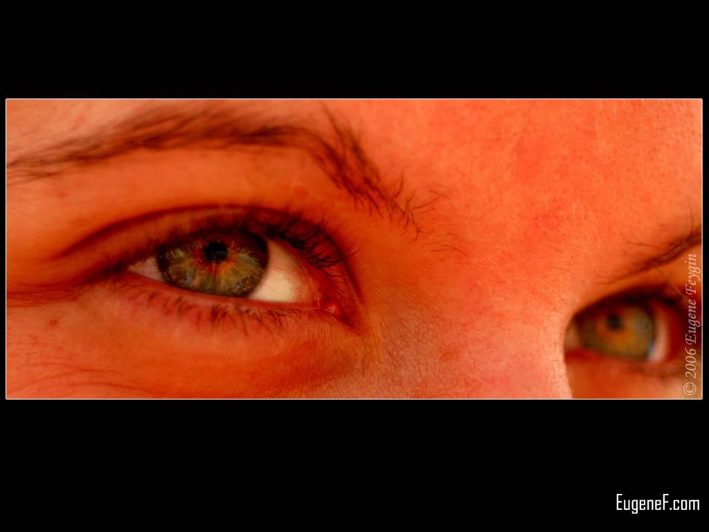 Caucasian Woman Portrait Model Glamour Eyes Girl