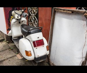 Scooter Parked in a House