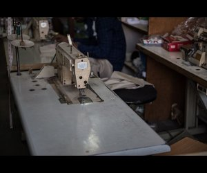 Sewing Machine in Shop
