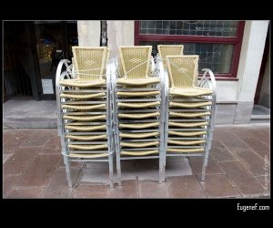 Stacked Cafe Chairs