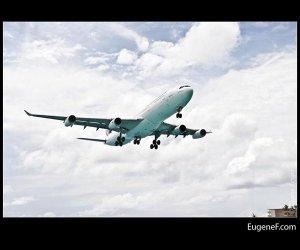 Airplane Cloudy Skies