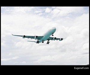 Airplane Cloudy Sky