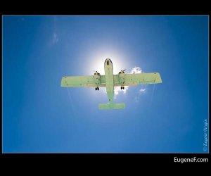 Sun Spotlight Airplane