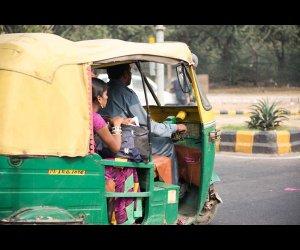 Autorickshaw Carrying Passengers