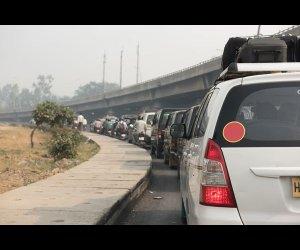 Busy Road in Delhi