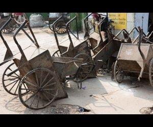 Pushcart To Clean Garbage