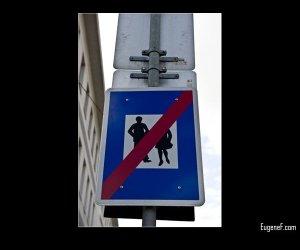 No Walking Sign