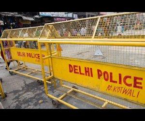 Yellow Police Barricade